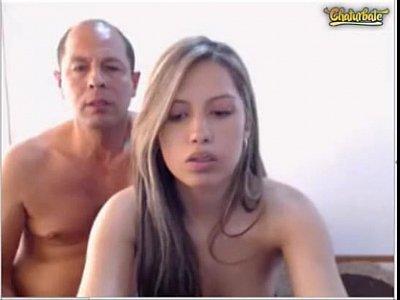Pai Come Filha Gostosa Na Frente Da Webcam