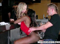 Brazzers – Ebony and ivory, anal threesome
