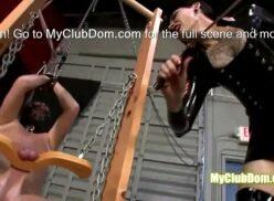 Femdom whipping tube